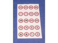 Decalsatz 1:87 Verkehrszeichen 5