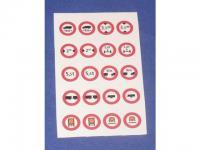 Decalsatz 1:87 Verkehrszeichen 7