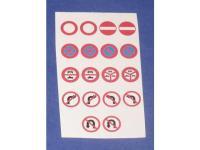 Decalsatz 1:87 Verkehrszeichen 9