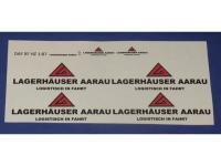 Decalsatz 1:87 DAF XF Kühlkofferhängerzug