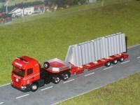 #603 Scania R09 HL mit Tieflader mit Betonelemente