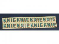 Decalsatz 1:87 8x Knie Schrift 12mm x 5mm