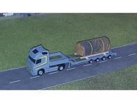Volvo FH4 mit Tieflader mit Eisentank
